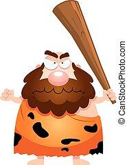 arrabbiato, cartone animato, caveman