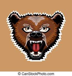 arrabbiato, cartone animato, orso