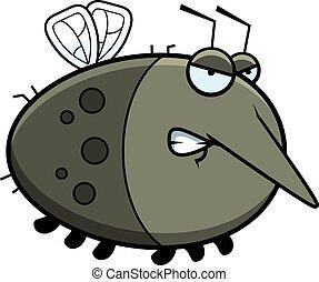 arrabbiato, cartone animato, zanzara