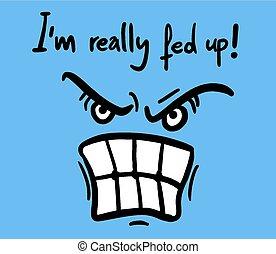 arrabbiato, faccia