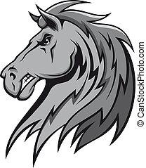 arrabbiato, grigio, stallone