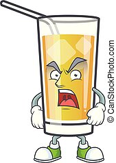 arrabbiato, mela, cartone animato, carattere, sidro