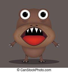 arrabbiato, orrore, mostro