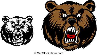 arrabbiato, orso, mascotte