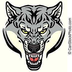 arrabbiato, testa lupo