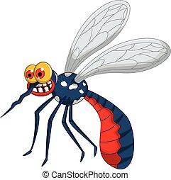 arrabbiato, zanzara, cartone animato