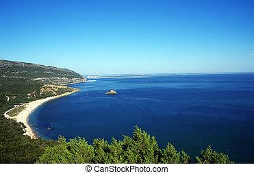 Arrabida National Park and Beach of Portinho, Setubal, Portugal