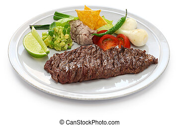 arrachera, mexican spiced skirt ste - grilled skirt steak, ...