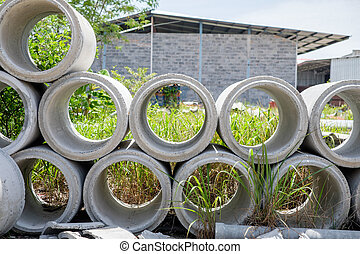 Arrange of cement pipe