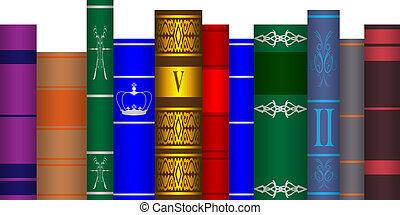 arranged books