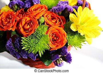 arrangement fleur, (ikebana)