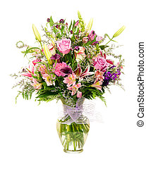 arrangement fleur, vase