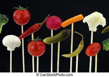 arrangement, légumes
