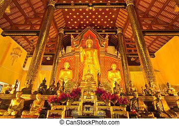 Arrangement of Buddha image,Wat J-D-Luang,Chiang Mai