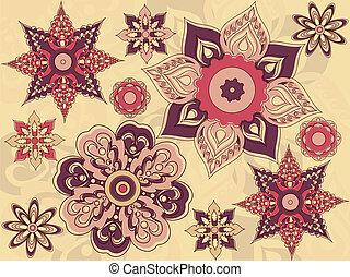 Arrangement of flowers and leaves, floral design