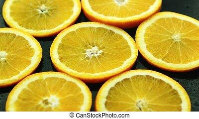 Arrangement of orange circles - Colorful composition of...