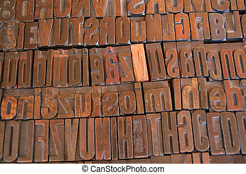 Arrangement of Printing Letters - Arrangement of various...