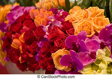 Arrangement of Roses, Tulips and Assorted Flowers - Gorgeous...