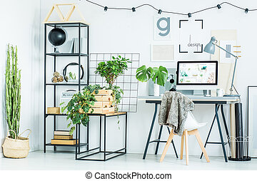Arrangement of white interior
