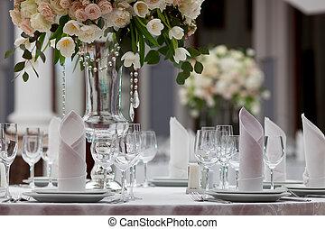arrangement tableau, luxe, réception, mariage