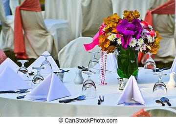 arrangement tableau, réception, mariage