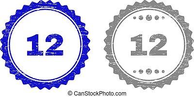 arranhado, 12, selo, selos, textured, fita