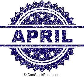 arranhado, abril, textured, selo, selo