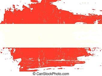 arranhado, austríaco, bandeira