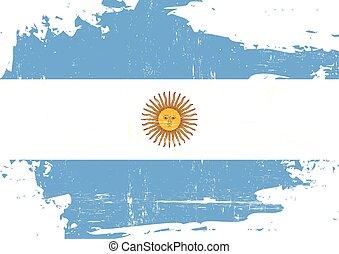 arranhado, bandeira, argentin