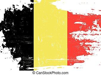 arranhado, bandeira, belga