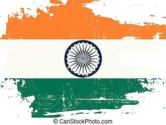 arranhado, bandeira, indianas