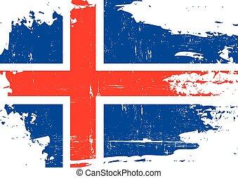 arranhado, bandeira islândia