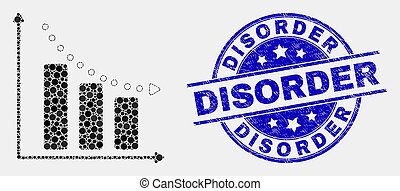 arranhado, barzinhos, selo, mapa, recessão, vetorial, desordem, pixel, ícone