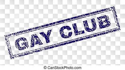 arranhado, clube, homossexual, retângulo, selo