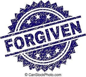 arranhado, forgiven, textured, selo, selo