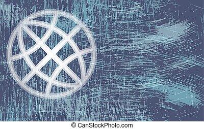 arranhado, globo, abstratos, transparente, vetorial, fundo, símbolo