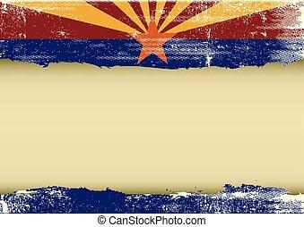 arranhado, horizontais, bandeira arizona