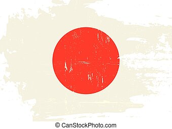 arranhado, Japão, bandeira