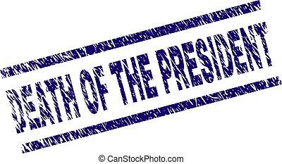 arranhado, mortos, selo, selo, textured, presidente
