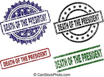 arranhado, mortos, selo, selos, textured, presidente
