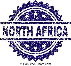 arranhado, norte, selo, textured, áfrica, selo