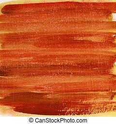 arranhado, pintado, textura, aquarela, amarela, laranja, vermelho