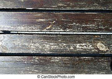arranhado, prancha madeira, resistido