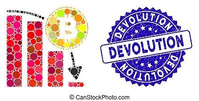 arranhado, queda, ícone, devolução, selo, mosaico, mapa, bitcoin