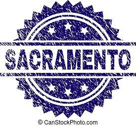 arranhado, sacramento, textured, selo, selo