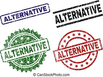 arranhado, selo, alternativa, textured, selos