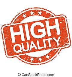 arranhado, selo, alto, qualidade, vermelho