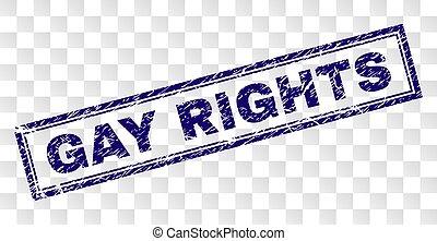 arranhado, selo, homossexual, retângulo, direitos