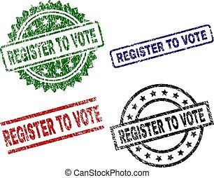 arranhado, selo, registo, selos, textured, voto