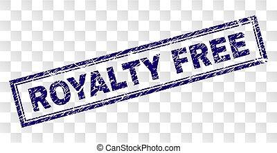 arranhado, selo, royalty livre, retângulo
